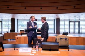 Les deux Premiers ministres libéraux, Alexander de Croo et Xavier Bettel. ((Photo: Nader Ghavami))