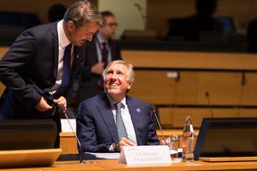 Xavier Bettel et François Bausch, le vice-Premier ministre et ministre de la Défense, mais aussi ministre de la Mobilité et des Travaux publics. ((Photo: Nader Ghavami))
