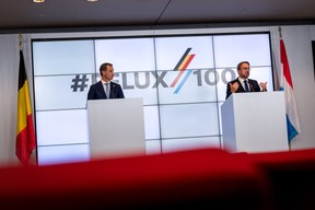 La journée a été ponctuée par une conférence de presse commune entre Alexander de Croo et Xavier Bettel. ((Photo: Nader Ghavami))