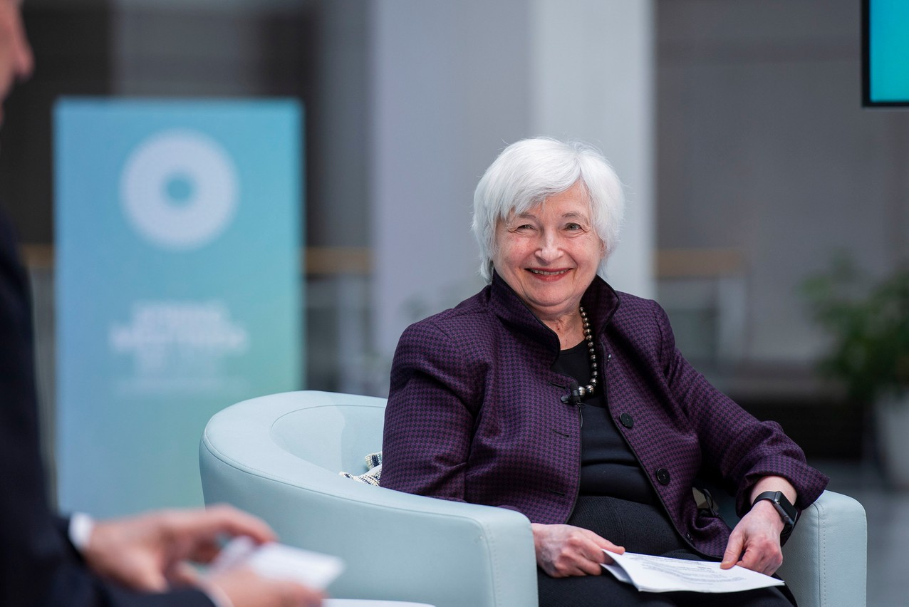 Pressure from Washington helped push through an international corporate tax rate reform at the OECD in Paris on Thursday. Library picture: Janet Yellen, US treasury secretary, seen during a World Bank, 25 March 2021. World Bank / Brandon Payne