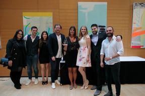 Au centre, Pierre Beck et Catherine Hoffmann (Fox Drinks, 3e prix Cyel 2019) ((Photo: Matic Zorman))