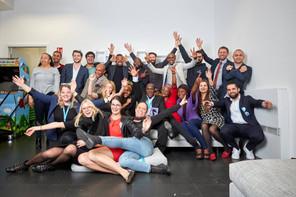 La première session de Catapult, en 2018, s'installe, fort de l'énergie apportée par les entrepreneurs africains. (Photo: Eric Devillet/Lhoft)