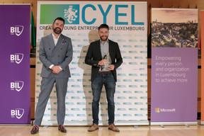 Pierre-Olivier Rotheval (BIL) et Tom Michels (CEO de Salonkee),grand gagnant du concours. ((Photo: Matic Zorman / Maison Moderne))