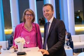 Danielle Goedert (Banque de Luxembourg) et Romain Hartmann ((Photo: Éric Chenal))