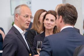 À gauche, Jérôme Wittamer (Expon capital) et Nathalie Pirotte ((Photo: Éric Chenal))