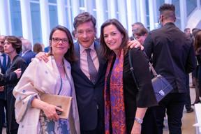 Marie-Isabelle Callier, Nicolas Mackel (Luxembourg for Finance) et Stéphanie Breydel de Groeninghe (Hiscox) ((Photo: Éric Chenal))
