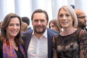 Stéphanie Breydel de Groeninghe (Hiscox), Mikael Detout (Rossmills) et Sabrina Hajek (Étude Sabrina Hajek) ((Photo: Éric Chenal))