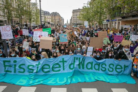 C'était la première grande action deYouth for Climate Luxembourg depuis deux ans. (Photo: Romain Gamba/Maison Moderne)