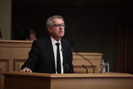 Le ministre des Finances PierreGramegna (DP) est venu présenter un premier bilan des prêts garantis par l'État. (Photo: Matic Zorman/archives Paperjam)