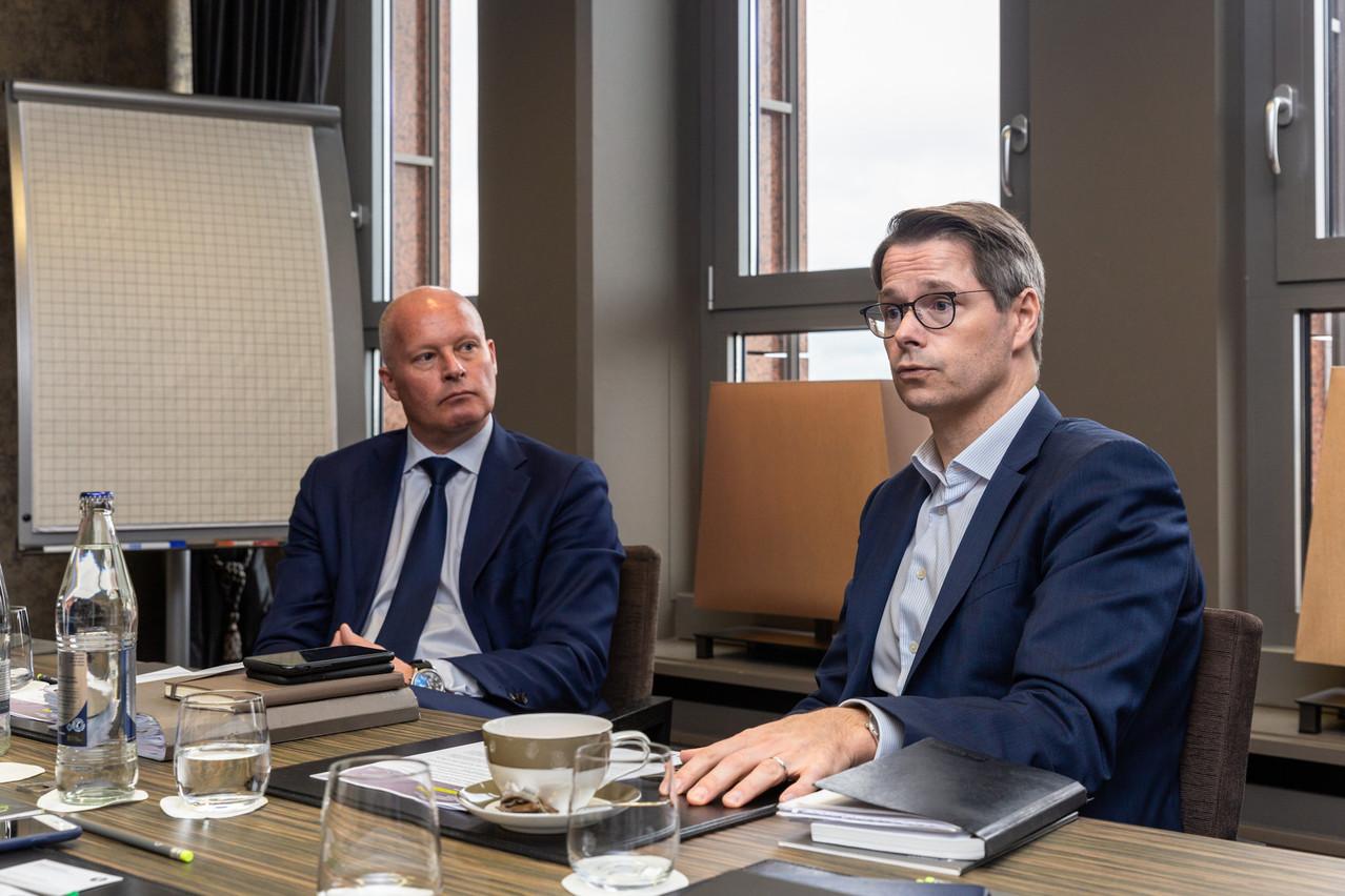 Jurgen Vanhoenacker (à gauche) et FlorentAlbert, plus que satisfaits des résultats de Lombard International. (Photo: Romain Gamba/Maison Moderne)