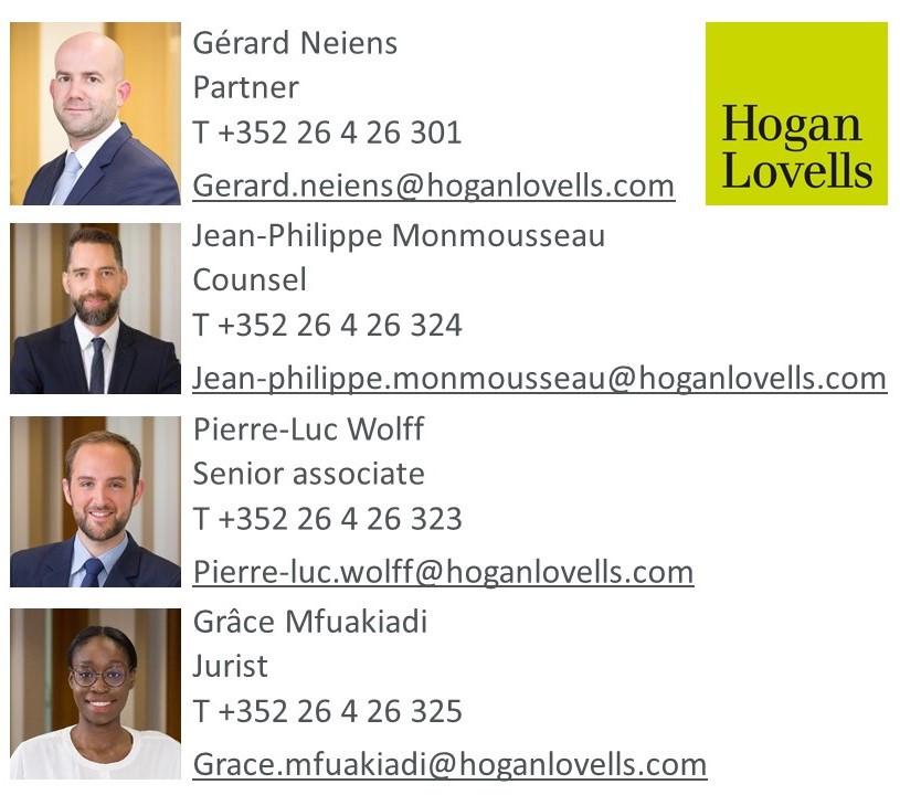 Gérard Neiens, Jean-Philippe Monmousseau, Pierre-Luc Wolff et Grâce Mfuakiadi. Hogan Lovells