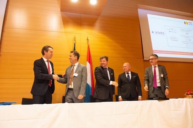 Plusieurs accords ont notamment été signés entre les autorités universitaires des deux pays. (Photo: Anthony Dehez)