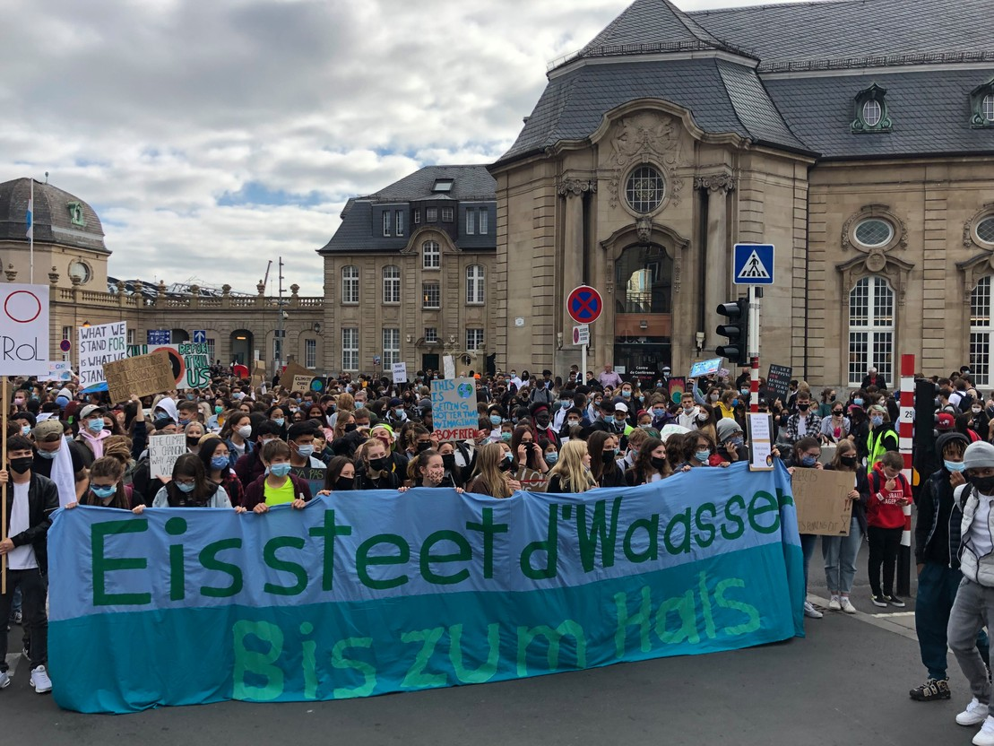 The grand ducal police counted about 2,500 participants at the beginning of the march. Photo: Maison Moderne