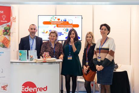 Au centre, Hanane El Maskini (Edenred), et Sylvie Dejardin (Edenred) à droite (Photo: Romain Gamba)
