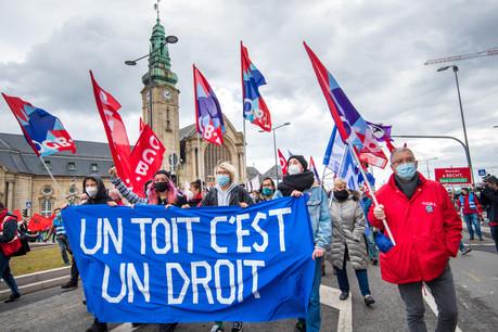 Les manifestants s'impatientent devant la pénurie de logements sociaux et abordables au Grand-Duché. (Photo: Nader Ghavami)