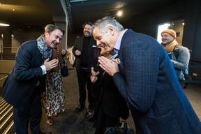 Sam Tanson (Ministre de la culture), Xavier Bettel (Premier ministre, ministre des communications et des médias), Guy Daleiden (directeur, Film Fund Luxembourg), Colette Flesch, présidente (Luxembourg City Film Festival), Jo Kox (ministère de la Culture) ((Photo: Nader Ghavami / Maison Moderne))