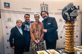 Colette Flesch (présidente, Luxembourg City Film Festival), Xavier Bettel (Premier ministre, ministre des Communications et des médias), Guy Daleiden (directeur, Film Fund Luxembourg), Sam Tanson (ministre de la Culture) ((Photo: Nader Ghavami / Maison Moderne))