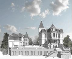 Vue de la Villa Pétrusse côté jardin après restauration. ((Illustration : Jim Clemes Associates))