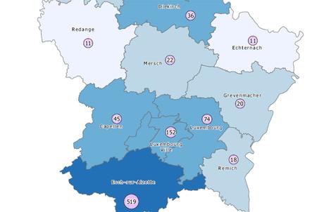 Les contaminations ralentissent depuis quatre semaines et se concentrent toujours dans la moitié sud du pays. (Carte: ministère de la Santé)