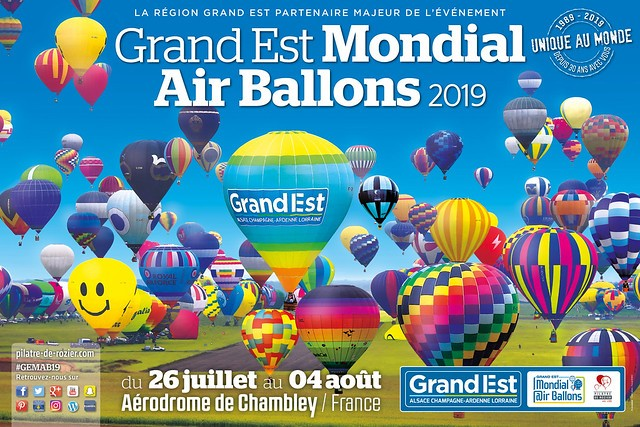 L'affiche de la 16e édition du Grand Est Mondial Air Ballons. (Visuel: Pilâtre de Rozier Organisation)