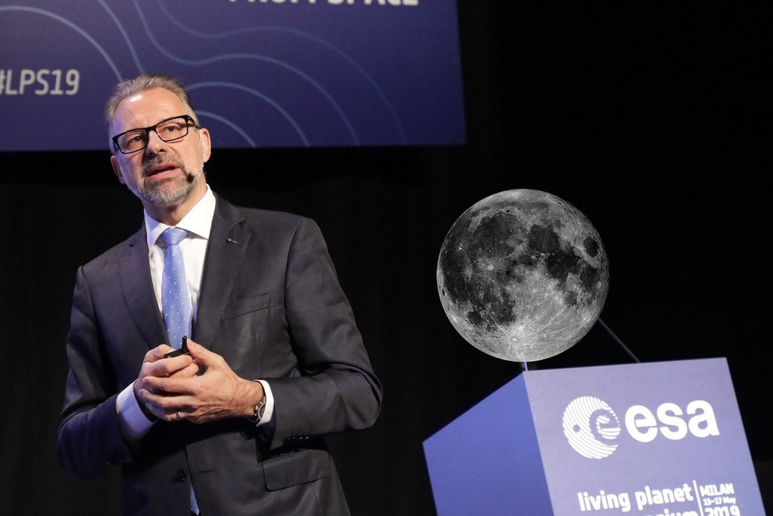 Visiting Redu on Wednesday, ESA's new director general since March, Josef Aschbacher, said he wanted to convince the Council of Ministers to invest 30 million in the further development of space cybersecurity expertise at the Belgian site. (Photo: ESA)