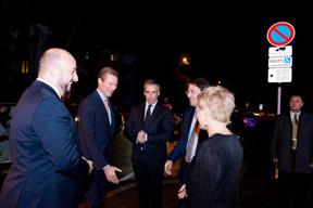 Étienne Schneider (Ministre de l'Économie), S.A.R. Le Grand-Duc Henri, Claude Meisch (Ministre de l'Enseignement supérieur et de la Recherche), Mario Grotz et Sasha Baillie (Luxinnovation) ((Photo: Marie De Decker))