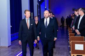 S.A.R. Le Grand-Duc Henri et Étienne Schneider (Ministre de l'Économie) ((Photo: Marie De Decker))