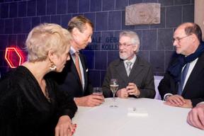 Sasha Baillie (Luxinnovation), S.A.R. Le Grand-Duc Henri, Alex Pentland (MIT Boston) et Roger Lampach (Luxconnect) ((Photo: Marie De Decker))