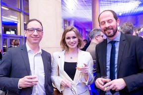 Jean-Christophe Witz (Husky), Aziliz Guérin (ministère des Affaires étrangères) et Arnaud Duban (Luxinnovation) ((Photo: Marie De Decker))