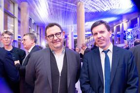 Sylvain Cottong (Strategybuilders) et Tom Theves (ministère de l'Économie) ((Photo: Marie De Decker))