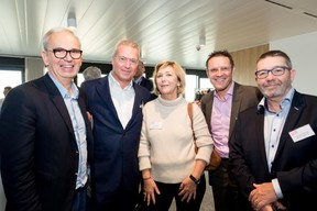 Thierry Smets (Smets), Olivier Coppieters (Resultance), Rita Goffin (Ampacet Europe), Yves Lahaye (RBC) et Christian Tourtier (Ampacet Europe) ((Photo: Marie De Decker))