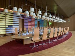 La grande salle des délibérés accueille la réunion générale des juges de la Cour, tous les mardis. ((Photo: Paperjam))