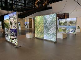 Une exposition retrace l'évolution du quartier du Kirchberg, parallèlement à celle du complexe de la CJUE. ((Photo: Paperjam))
