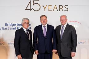 Ron Sommer (Sistema), Vsevolod Rozanov et Roger Munnings (Sistema) ((Photo:Marie De Decker pour EWUB))