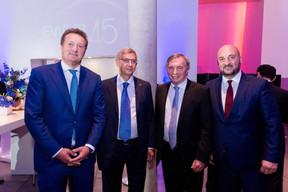 Sergey Pchelintsev (CEO de EWUB), Vladimir Evtushenkov (Sistema Group), Jeannot Krecké (EWUB) et Étienne Schneider (Ministre de l'Économie) ((Photo:Marie De Decker pour EWUB))