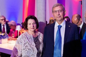 Vladimir Evtushenkov (Sistema Group) et Natalia Evtushenkova (EWUB) ((Photo:Marie De Decker pour EWUB))