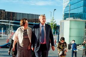 Natalia Evtushenkova (Membre du conseil d'administration de EWUB) et Vladimir Evtushenkov (Dirigeant de Sistema group) ((Photo: Florian Talon  pour EWUB))