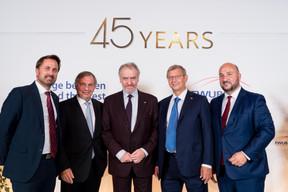 Xavier Bettel (Premier ministre), Jeannot Krecké (EWUB),  Valery Gergiev , Vladimir Evtushenkov (Sistema Group) et Étienne Schneider (Ministre de l'Économie) ((Photo:Marie De Decker pour EWUB))