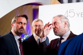 Xavier Bettel (Premier ministre), Vladimir Evtushenkov (Sistema Group) et  Valery Gergiev ((Photo:Marie De Decker pour EWUB))