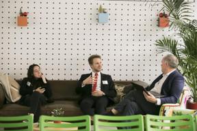 Gabrielle Inzirillo (Plug and Play Tech Center), Dan Vrabel (Deloitte Luxembourg) et Mark Post (SingularityU) ((Photo: Nelson Coelho))