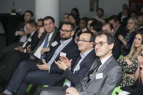 Sebastian Eberwein, (FranklinCovey Luxembourg ), Marc Sniukas (Deloitte Luxembourg), Fateh Amroune (Deloitte Luxembourg) et Christophe Vallet (Deloitte Luxembourg) ((Photo: Nelson Coelho))