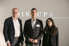 Mark Post (SingularityU), Roeland Dietvorst (SingularityU) et Marc Sniukas (Deloitte Luxembourg) ((Photo: Nelson Coelho))