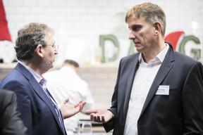 À droite, Alain Scholtes (BCEE) ((Photo: Nelson Coelho))