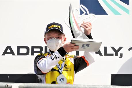 Maxime Furon-Castelain a réussi, en karting, une performance historique pour le Luxembourg. (Photo: KSP Reportages)