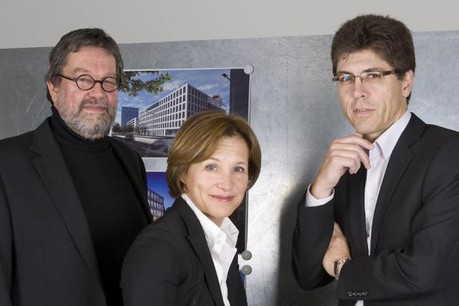Alain Linster, Marie Lucas et Jos Dell . (Photo: M3 architectes)