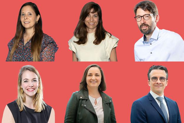 De gauche à droite, de haut en bas: Sonia Leite, Anne Calteux, Laurent Hansen, Claire Angelsberg, Silvana Masi, Xavier Poos. (Photos: Ministère de la Santé/Maison Moderne)
