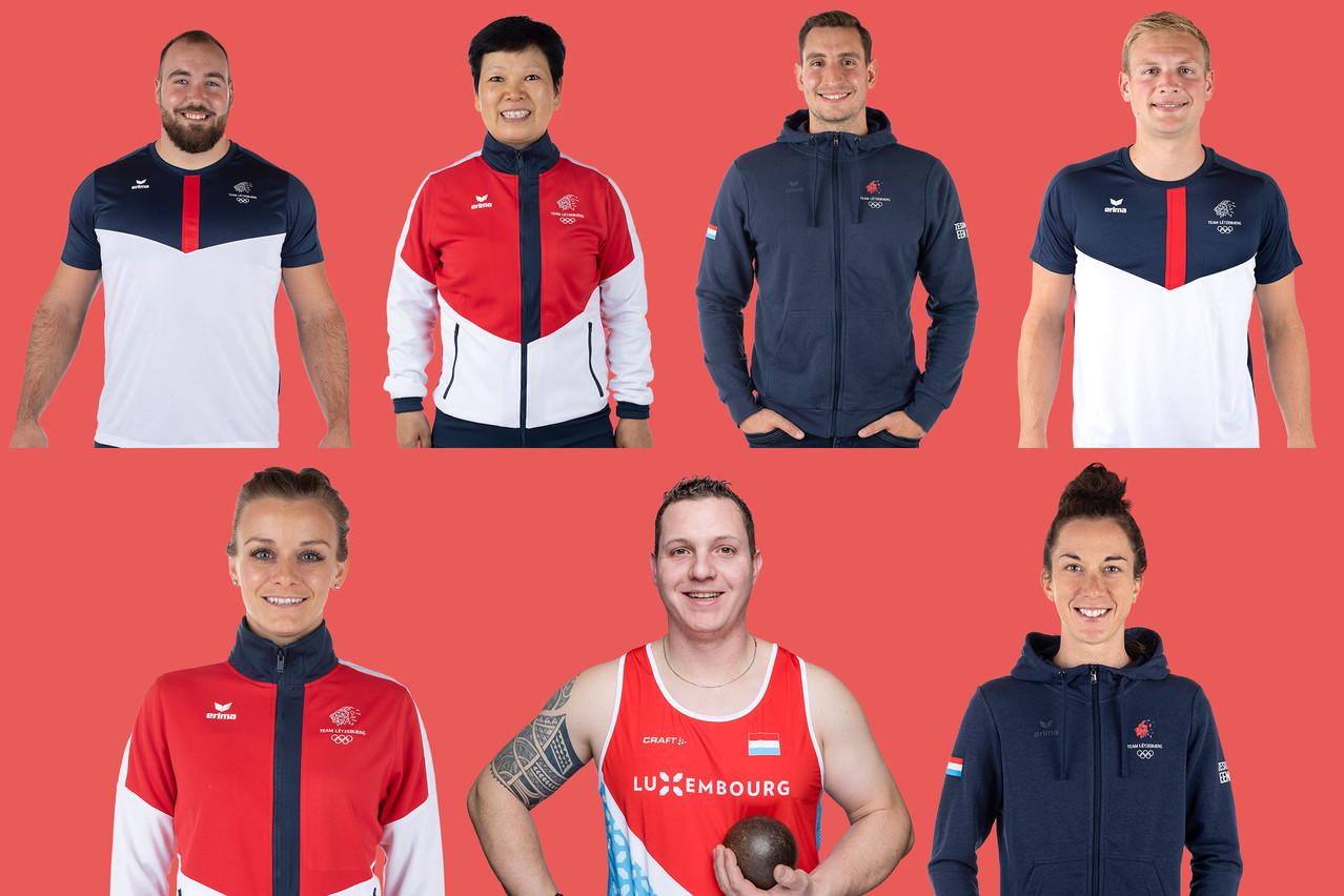 7 athlètes qui représenteront le Luxembourg aux jeux olympiques de Tokyo fin juillet. (Montage: Maison Moderne)