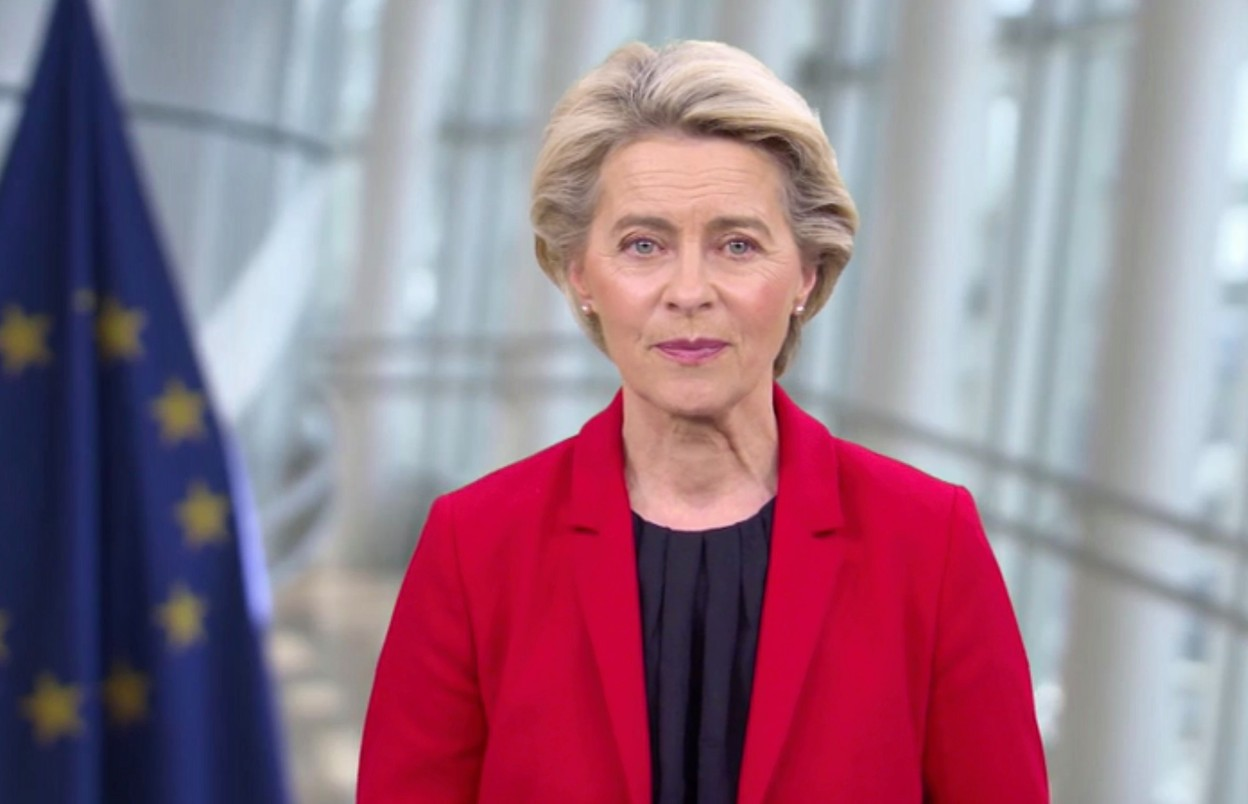 """European Commission president Ursula von der Leyen said that the pandemic is not over and has called """"on everyone who can to get vaccinated"""" European Union (screengrab)"""