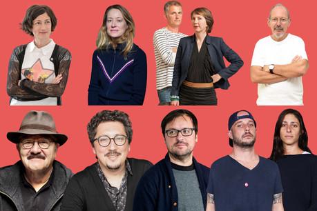 De gauche à droite, les 8 artistes luxembourgeois vivants les mieux cotés actuellement. (Montage: Maison Moderne)