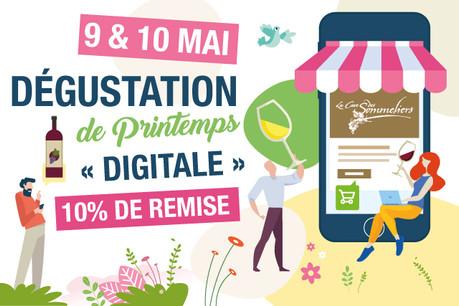 9 & 10 mai: Grande dégustation de printemps digitale. (Crédit: La Cave des Sommeliers)